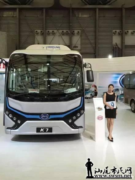 新公交车车型为比亚迪k7纯电动客车,长8米,该网友认为比亚迪k7高清图片