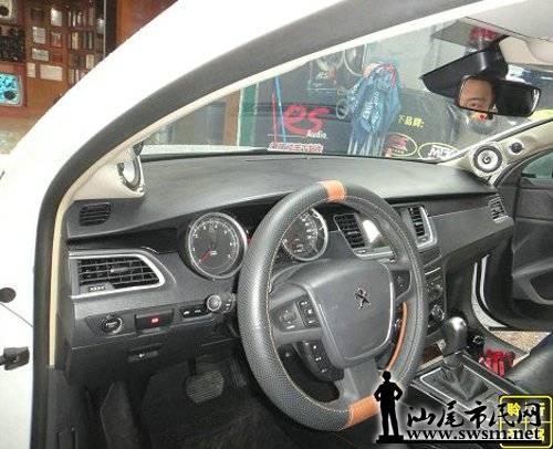 标致508汽车音响改装德国RS皇太子二分频案例 深圳 宝安聆听圣驾汽高清图片